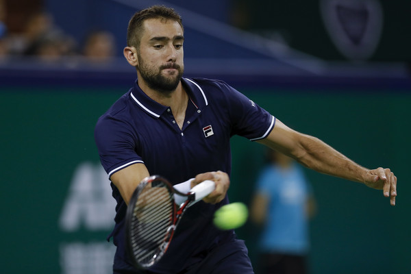 Marin Cilic crushes a forehand. Photo: Lintao Zhang/Getty Images