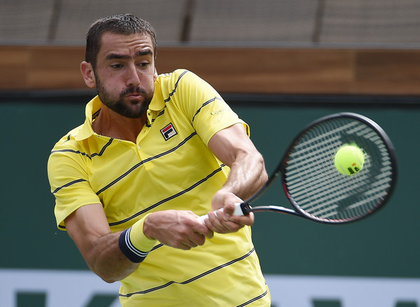 Marin Cilic is seeded second at the second straight Masters 1000 event this week in Miami. He bowed out early in Indian Wells. Photo: Kevork Djansezian/Getty Images