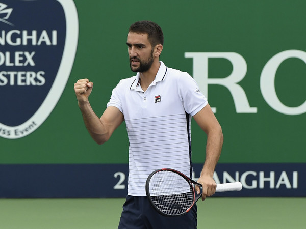 Marin Cilic pumps his fist during a match in Shanghai. Photo: Kevin Lee/Getty Images