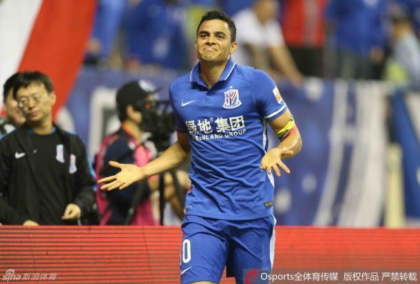 Giovanni Moreno chegou aos nove gols na Super Liga da China (Foto: Sina Sports)