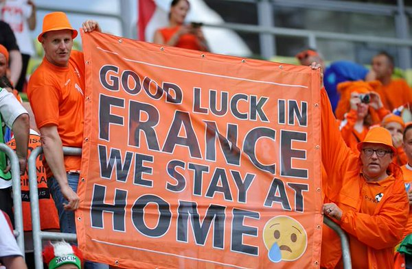 The Dutch were impressive, but aren't heading to France this summer. (Photo: @WSCsm)