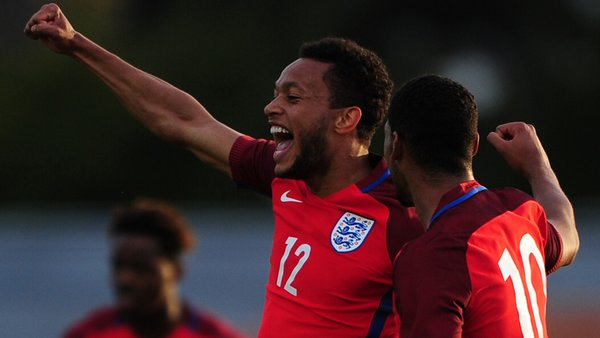 Baker celebrates his second goal of the tournament. (Photo: FA)