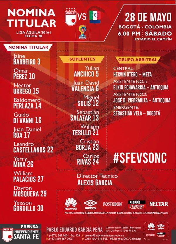 Titular de Santa Fe | Foto: Independiente Santa Fe