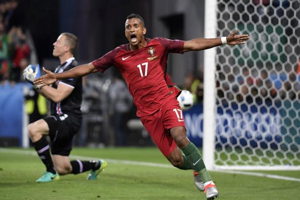 Nani celebrates his goal against Iceland | Photo: Getty