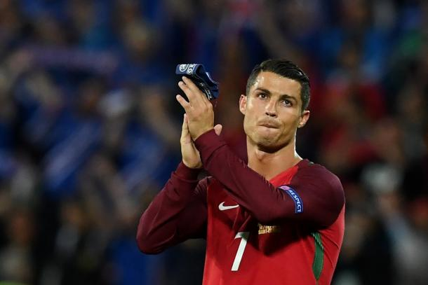 Ronaldo was a frustrated figure against Iceland | Photo: Getty