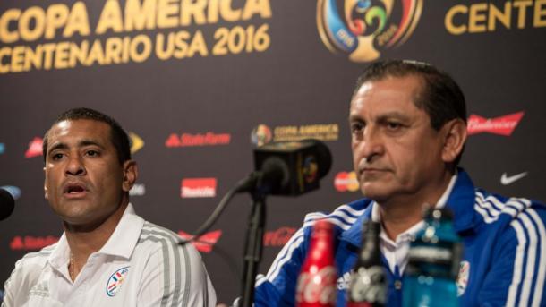 Ramon Diaz and Paulo Da Silva speaks to the press. Photo: CARACOL