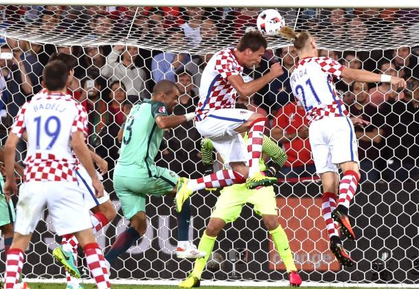 Vida came closest to an opening goal in normal time | Photo: UEFA