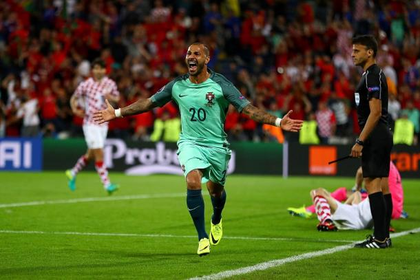 Quaresma celebrates his winner against Croatia | Photo: Getty