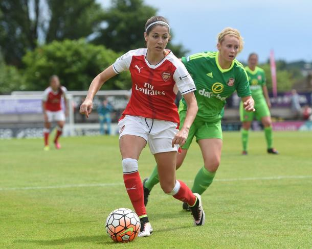 Vicky Losada put in an impressive performance against the Black Cats | Photo: Arsenal Ladies
