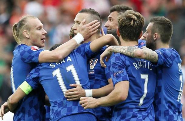 La Croazia esulta dopo il gol di Perisic. Fonte foto: it.uefa.com