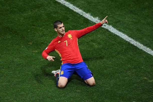 Alvaro Morata scored twice to help his side win | Photo: UEFA EURO