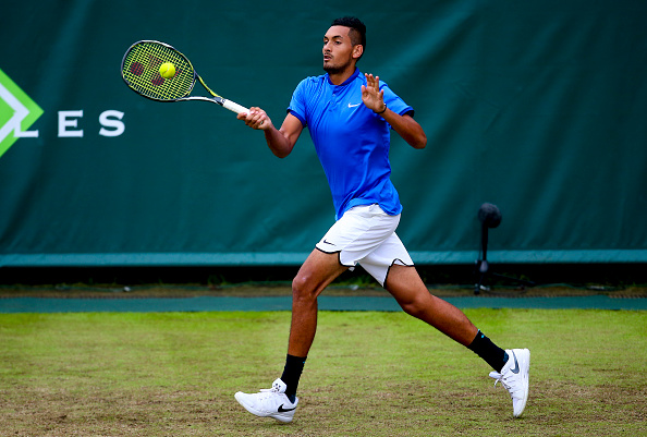 Nick Kyrgios at the Boodles tennis exhibition (Photo: Jordan Mansfield/Getty Images)
