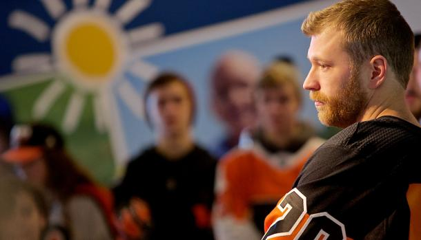 Claude Giroux at the 42nd Annual Flyers Wives Carnival | Photo: Derek Brad Photography)