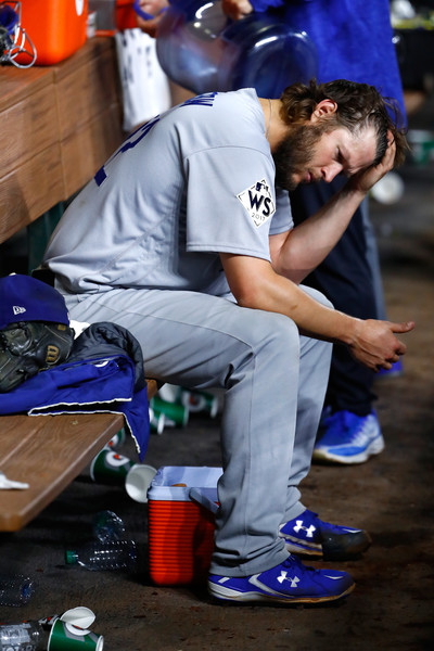 After dominating the Astros in Game 1, Kershaw was knocked around in Game 5/Photo: Jamie Squire/Getty Images