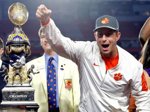Clemson coach Dabo Swinney and his team get a second chance at the national championship against Alabama/Photo: Ross D. Franklin/Associated Press