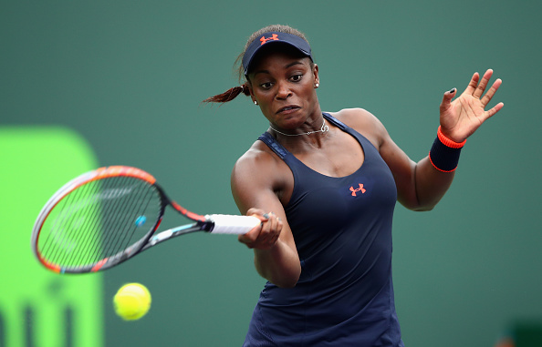 Stephens in action at the Miami Open this season (Getty/Clive Brunskill)