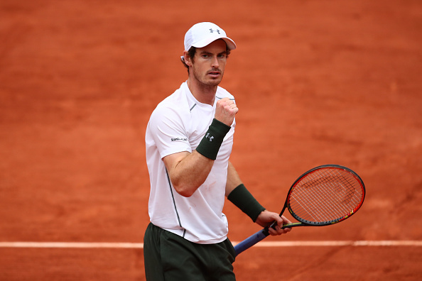 Andy Murray celebrates a point during his fourth round victory over John Isner (Getty/Clive Brunskill)