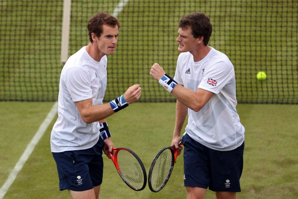 Andy and Jamie Murray during their first round loss at the London 2012 Olympic Games (Getty/Clive Brunskill)