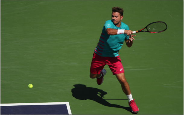 Wawrinka will look to use his powerful groundstrokes to upend Federer. Credit: Clive Brunskill/Getty Images