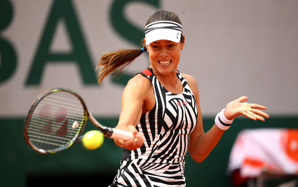Ana Ivanovic, who won the tournament in 2008, looked second best for most of the match (Source: Clive Brunskill/Getty Images Europe)