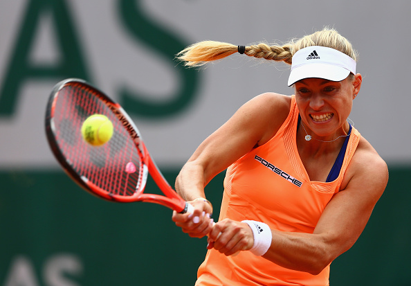 Kerber during her third round loss at the French Open last year (Getty/Clive Mason)