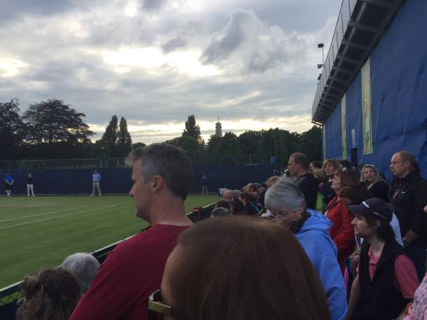 Anderson's coach, Neville Godwin, watches on. Photo: Joshua Coase