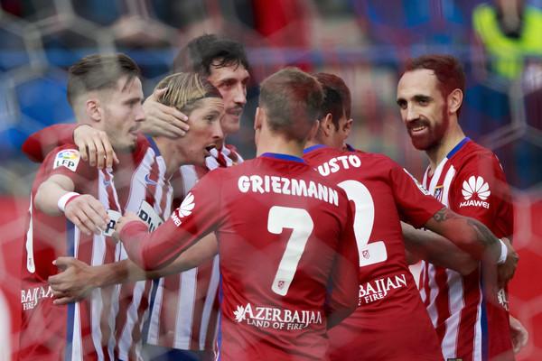 La festa dell'Atletico al gol di Fernando Torres. Fonte: Getty Images.