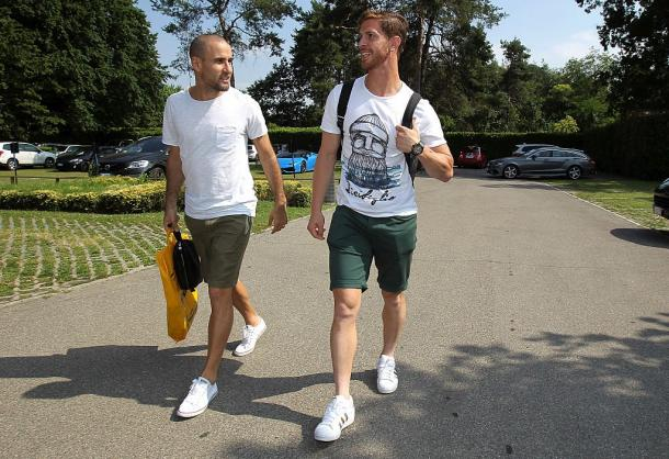 Palacio and new boy Ansaldi at Appiano Gentile | Photo: @danmari83
