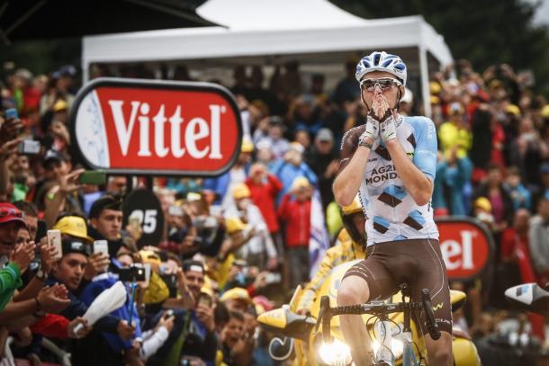 Romain Bardet all'arrivo. Fonte foto: letour.fr