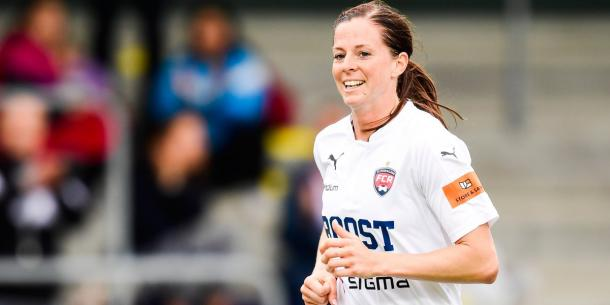 Lotta Schelin enjoyed an eventful return to domestic action, scoring on her FC Rosengård debut at the weekend. (Photo: SVTSport)