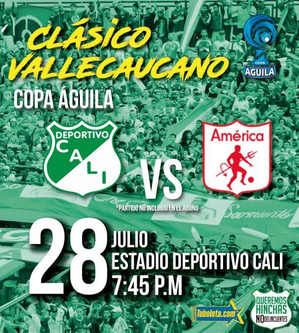 Jueves 28 de julio. Deportivo Cali vs. América de CAli. Hora: 7:45 P.M. Estadio: Deportivo Cali. Televisión: WIN Sports.