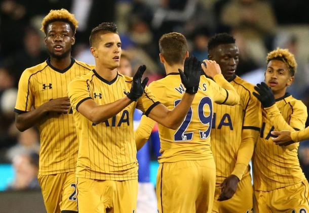 Lamela celebrating his goal against Juventus | Photo: Getty