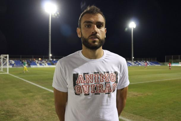 Gonzalo Verdú con la camiseta de apoyo a Guirao | Foto: FC Cartagena