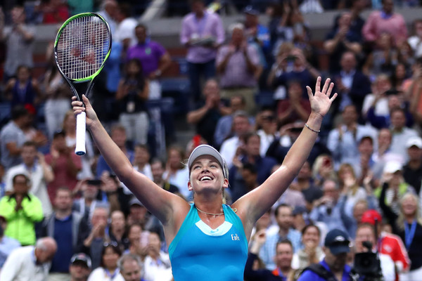 Coco Vandeweghe celebrates reaching the semifinals at the US Open | Photo: Clive Brunskill/Getty Images North America