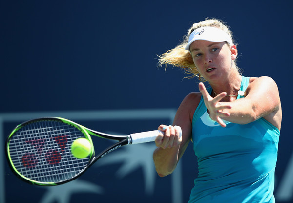 Coco Vandeweghe in action at the Bank of the West Classic | Photo: Ezra Shaw/Getty Images North America