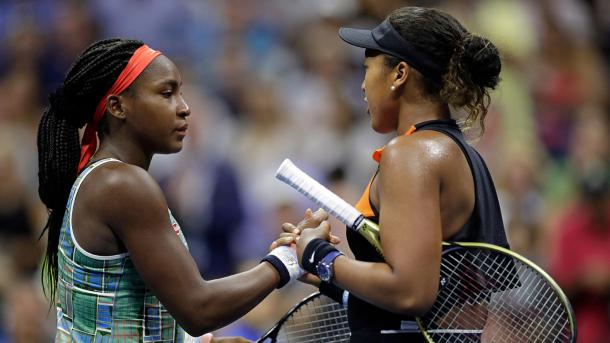 Gauff (l.) and Osaka (r.) showed what true sportsmanship is about in New York last year/Photo: TPN