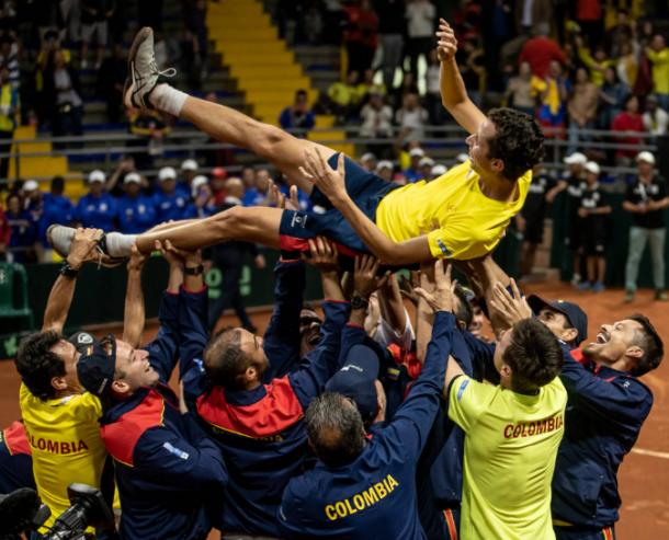 Colombia, con Daniel Galán y los mejores doblistas del mundo: Cabal y Farah, esperan mejorar lo logrado en 2019. Imagen: @DavisCup.