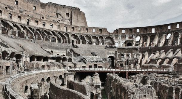 Imagen actual del coliseo romano, anfiteatro donde se celebraron los mayores juegos romanos de gladiadores. Fuente: Wikicomons