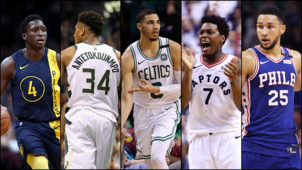 With LeBron now out of the East, Sully and Richard both have the Celtics, Raptors, 76ers, Pacers and Bucks as their top five teams in the East.