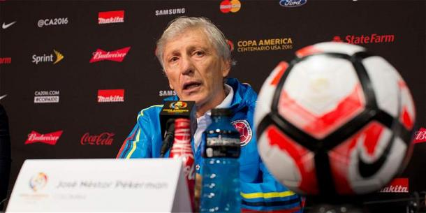 Head Coach Pekerman speaks to the press ahead of the game against Costa Rica. source: Futbolred