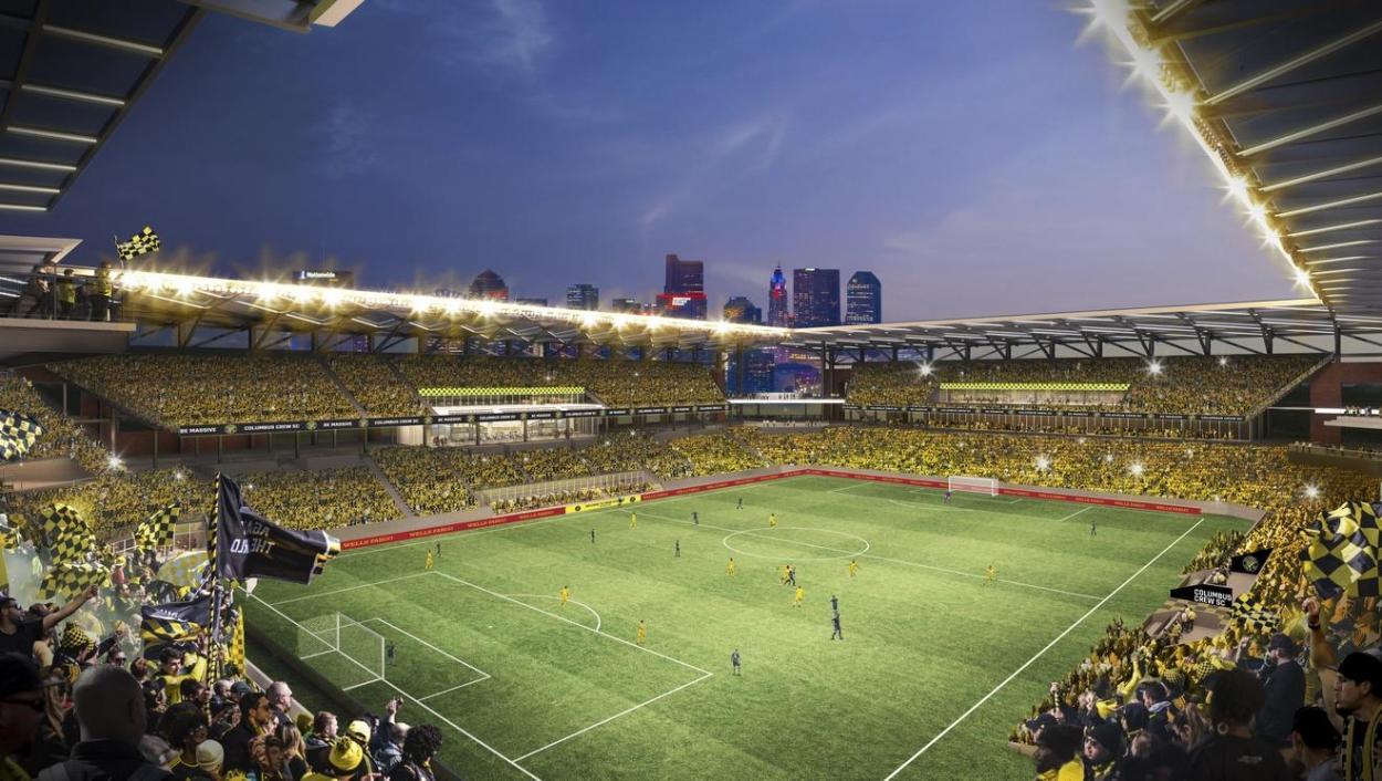 Imagen virtual del New Crew Stadium (soccerstadiumdigest.com)