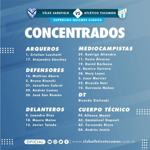 Vía: Prensa Atlético Tucumán