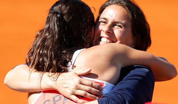 Martinez with Lara Arruabarrena (Getty/Gabriel Rossi/STF)
