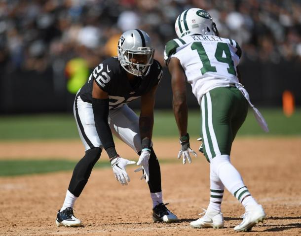 Gareon Conley, who was last seen in a Raiders uniform on September 17th against the Jets, will be counted on as a starter in 2018 | Thearon W. Henderson, Getty Images