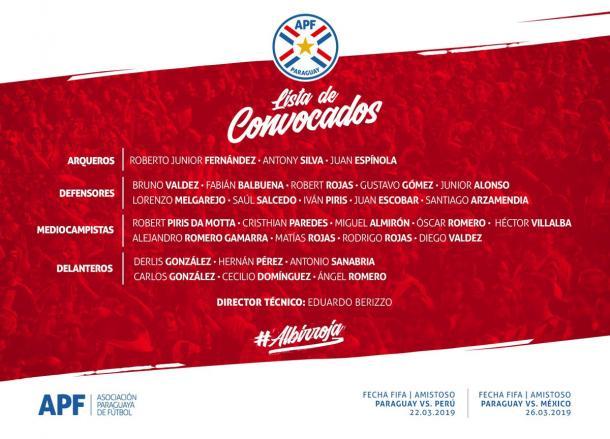 Foto: Asociación Paraguaya de Fútbol