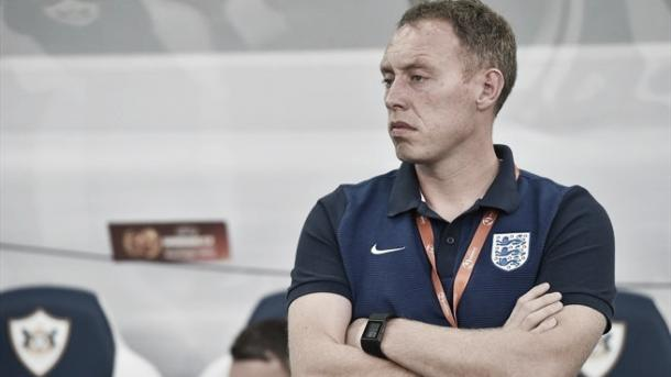 Above; England under-17 coach Steve Cooper watches on as his side defeat current European under-17 championship holders France 2-0 | Photo: uefa.com