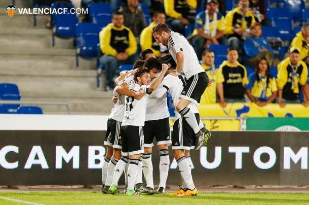 El Valencia se impuso en el último enfrentamiento en Copa | Fotografía: Valencia CF