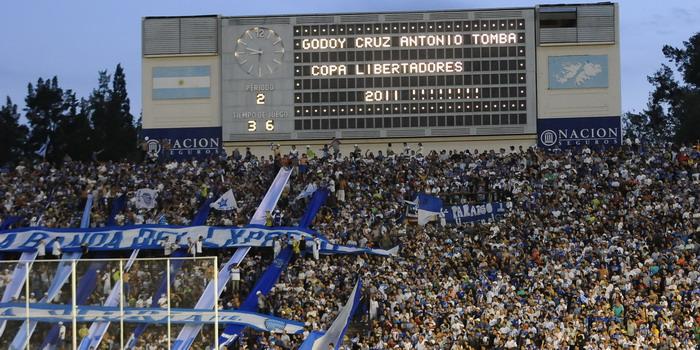 Así se anunciaba en el Estadio la clasificación. Foto: prensa Godoy Cruz.