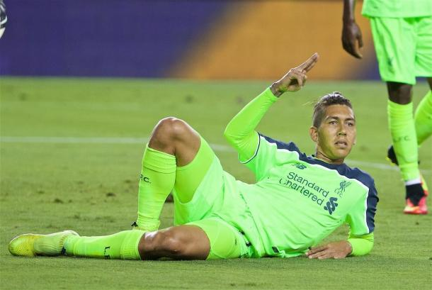 Firmino celebrates smoothly (photo: Getty Images)
