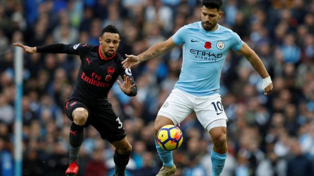 Coquelin durante el único partido de Premier que ha disputado como titular   Fotografía: Premier League